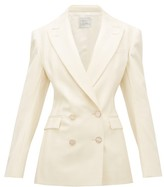 Hillier Bartley Double-breasted Striped Wool Jacket - Womens - Cream