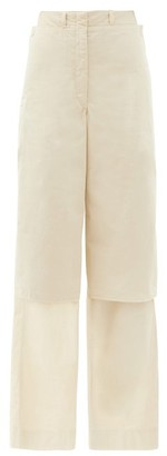 Lemaire Layered Cotton-ventile Wide-leg Cargo Trousers - Cream