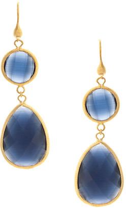 Rivka Friedman 18K Gold Clad Cat's Eye Earrings