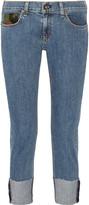 Rag & Bone Dre camouflage-trimmed slim boyfriend jeans