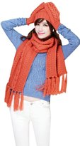 BeAllure Women's Winter Knit 3PC Hat, Scarf and Gloves Gift Set