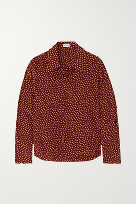 Saint Laurent Polka-dot Silk Crepe De Chine Shirt - Red