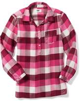 Old Navy Plaid Pullover Tunic for Girls