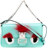 Fendi micro Baguette crossbody bag - women - Fox Fur/Leather/Rabbit Fur - One Size