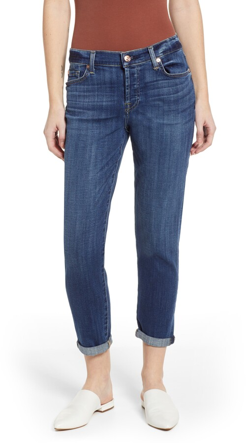 7 For All Mankind Josefina Ankle Boyfriend Jeans