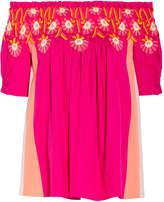 Ebay Online Peter Pilotto Woman Off-the-shoulder Cotton-poplin Peplum Top Fuchsia Size 10 Peter Pilotto Low Cost For Sale zv0OJCW