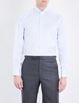 Eton Contrast-lining contemporary-fit cotton shirt