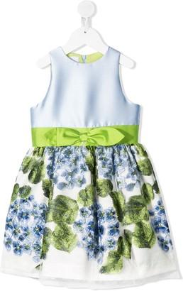 Petit Floral-Print Bow Detail Dress