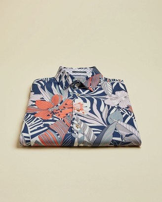 Ted Baker Lyocell Leaf Printed Shirt