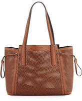 French Connection Nadia Laser-Cut Tote Bag, Nutmeg