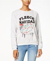 Hybrid Juniors' Fleece Navidad Plush Sweatshirt