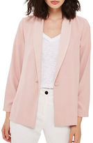 Topshop Ruched-Sleeved Blazer