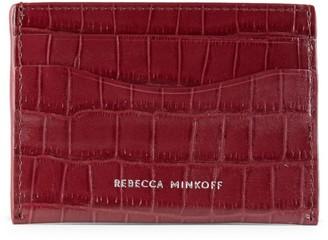Rebecca Minkoff Croc-Embossed Card Case