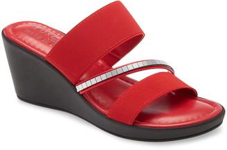 TUSCANY by Easy Street Monaco Wedge Slide Sandal