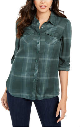 Style&Co. Style & Co Petite Plaid Tunic