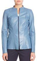 Lafayette 148 New York Tissue Weight Eliza Leather Jacket