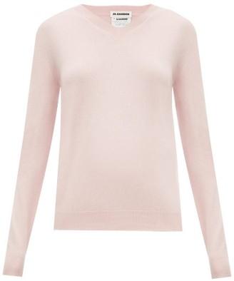 Jil Sander V-neck Cashmere Sweater - Womens - Pink