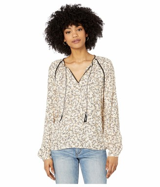 Cupcakes And Cashmere Women's Halston Crepe Peasant Blouse