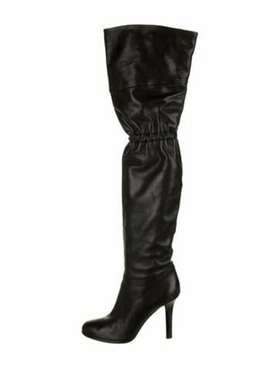 Jimmy Choo Leather Slouch Boots Black