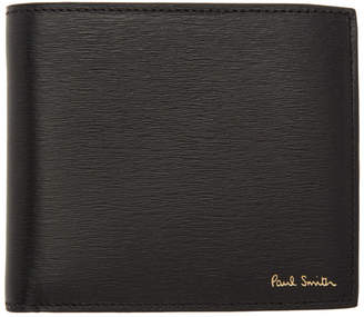 Paul Smith Black Straw Grain Bifold Wallet