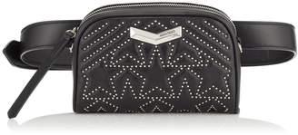 Jimmy Choo HELIA CAMERA BAG Black Star Matelasse Nappa Leather Camera Bag with Mini Studs