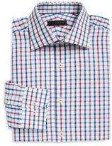 Ike Behar Multi-Check Cotton Poplin Dress Shirt