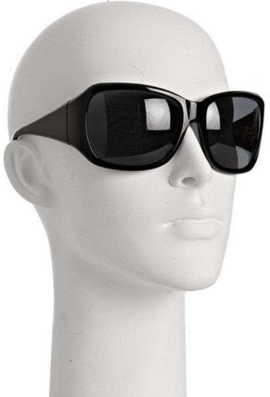 Derek Lam black 'Venetia' oversized wrap sunglasses