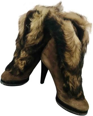 Ralph Lauren Brown Mongolian Lamb Boots