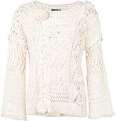 Twin-Set chunky knit jumper - women - Cotton - XS