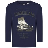Timberland TimberlandBoys Navy Cotton Boot Print Top