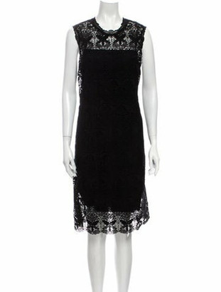 Emilio Pucci Patterned Knee-Length Dress Black