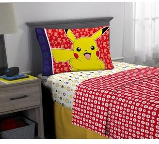 Pokemon Microfiber Sheet Set, Kids Bedding, Pikachu, 3-Piece TWIN