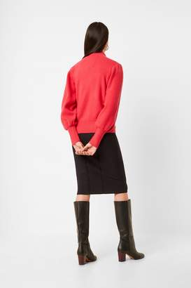 French Connection Flossy Puff Sleeve High Neck Jumper