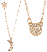 Melinda Maria Shiny Moon & Star CZ Necklace Set