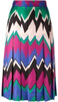 Salvatore Ferragamo chevron print skirt - women - Silk/Acetate - 42