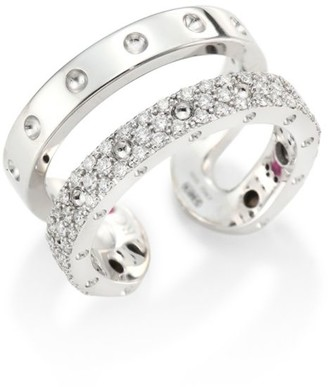 Roberto Coin Double Symphony Diamond & 18K White Gold Ring