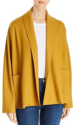Eileen Fisher Wool Shawl-Collar Jacket