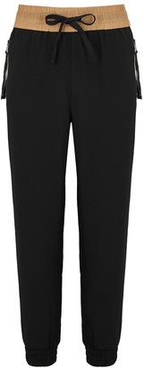 Moncler Black Striped Logo Sweatpants