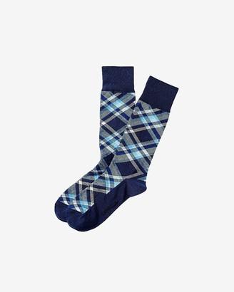 Express Plaid Dress Socks