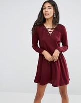 Brave Soul Lace Up Skater Dress
