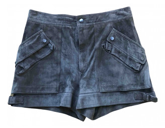 Helmut Lang Brown Suede Shorts