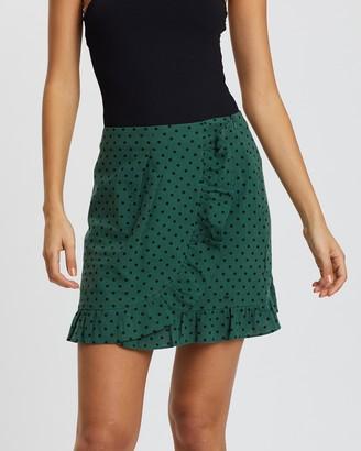 MinkPink Rock Start Polka Dot Skirt