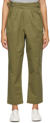 MAISON KITSUNÉ Khaki Work Trousers