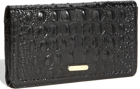 Brahmin Croc Embossed Leather Continental Wallet