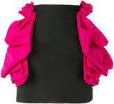 DSQUARED2 ruffle hip mini skirt - women - Virgin Wool/Silk/Polyester - 38