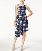 Alfani Printed Asymmetrical-Hem Dress, Only at Macy's