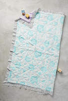 Anthropologie Watercolor Toddler Quilt