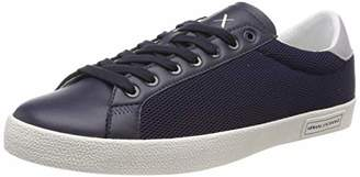 Armani Exchange A|X Men's Lace Up Sneaker with Suede Heel