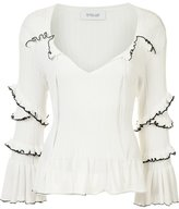 Derek Lam 10 Crosby ruffled knitted blouse - women - Cotton - S