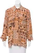 Gucci Floral Print Silk Top